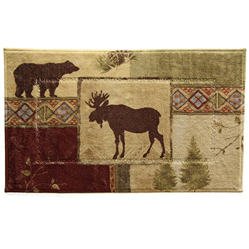 Bacova Mountain Lodge Bath Rug - Moose Bath Rug