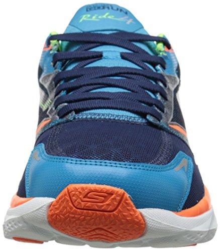 Run Go Orange Cushioned Ride Men's Blue Skechers Running Black 85A4qEx7w7
