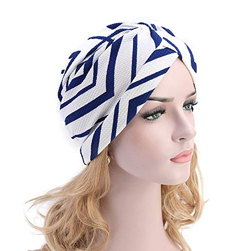 Muslim Cancer Hat,Plaid Printing Women Hair Loss Chemo