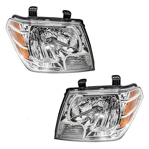 (Pair Set Combination Headlights Headlamps Replacement for 09-18 Nissan Frontier Pickup Truck 26060ZL40A 26010ZL40A)