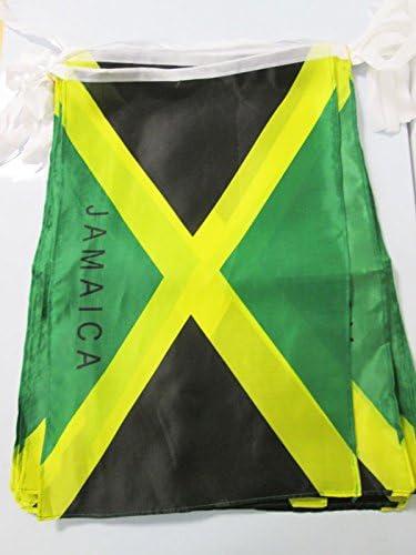 AZ FLAG Guirnalda 12 Metros 20 Banderas de Jamaica 45x30cm - Bandera JAMAICANA 30 x 45 cm - BANDERINES: Amazon.es: Hogar