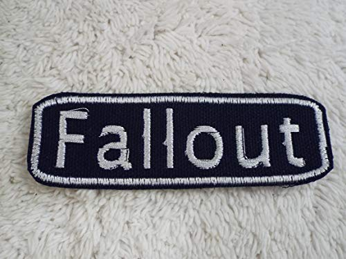 Out Embroidered Patch - FALLOUT Embroidered Iron-on Patch