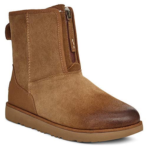 UGG Mens Classic Short Front Zip WP Boot, Chestnut, Size 11 (Ugg Mens Boots Zipper)