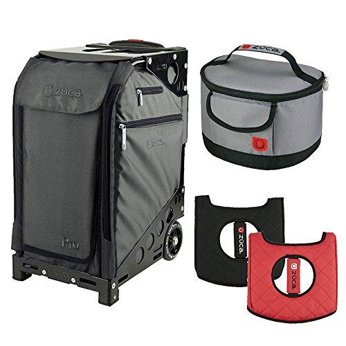 Zuca Graphite Gray Pro Artist Case w. Black Frame, Gift Seat Cushion + Lunchbox by ZUCA