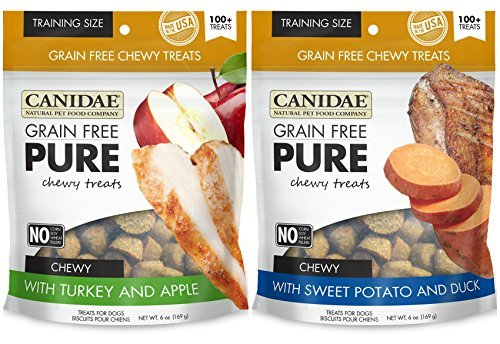 Canidae Grain Free Pure Chewy Dog Training Treats 2 Flavor V