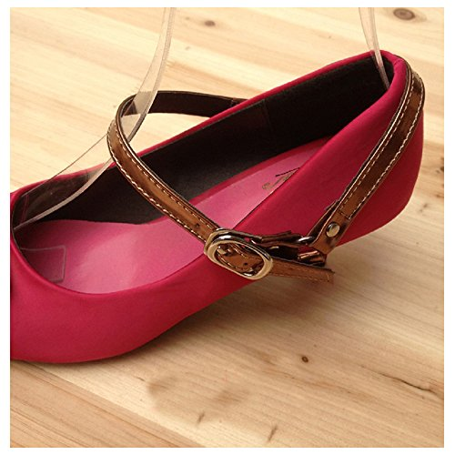 Florawang Detachable Leather Shoe Belt Strap Band for holding loose high heeled shoe pumps (Patent (Bronze Heeled)