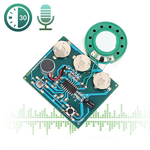 Musical Valentines Day Cards - Icstation 30 Seconds Recorder Light Sensor Sound Module Voice Recording with MIC for Mother's Day DIY Musical Gift Box Speaking Greeting Card Birthday Christmas Valentine