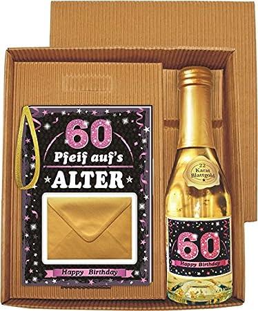 Pfeif Auf S Alter 60 Im Geschenke Set Fur Frauen Zum Geburtstag