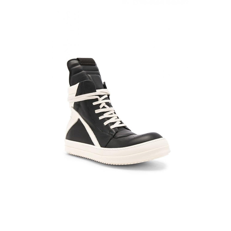 (リック オウエンス) Rick Owens メンズ シューズ靴 スニーカー Leather Geobasket Sneakers [並行輸入品] B07F7DL7W2