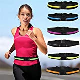 Single Pocket Fitness Running Fitness Belts - Expandable & Water Resistant Pocket - Fits Most Phones - Adjustable and Stretchable Waistband - Bounce-Free - Durable and Lightweight (6pcs Mixed Colors)