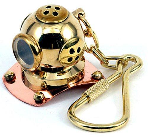Diving Helmet - Marine / Nautical Key Chain - Fully Brass Ma