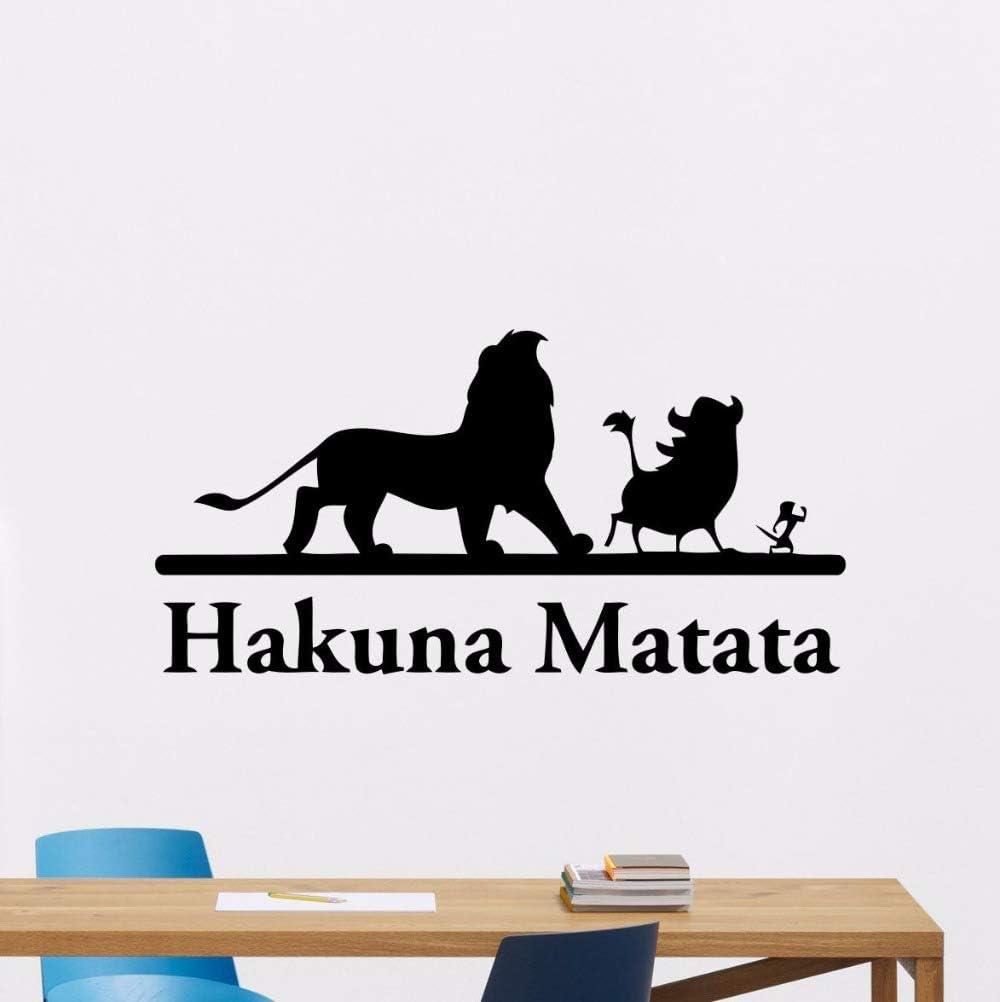 114x57 cm Vinilo Hakuna Matata tatuajes de pared rey león etiqueta ...