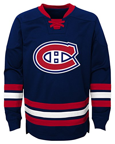 Outerstuff NHL Montreal Canadiens Youth Boys Classic Hockey Crew, X-Large(18), True Navy (Nhl Montreal Hockey)