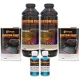 Custom Coat BLUE METALLIC 1 Liter Urethane Spray-On Truck Bed Liner Kit