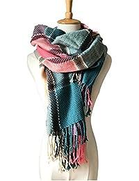 Women's Plaid Blanket Scarf Winter Big Tartan Wrap Shawl