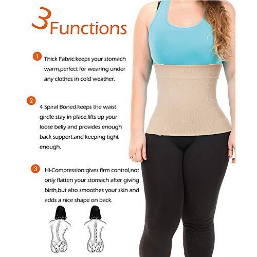 JITIFI Womens Postpartum Waist Trainer Belt Body Shaper Belly Wrap Compression Band