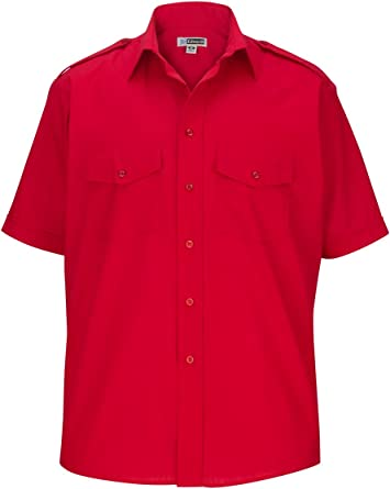 BYWX-Men Long Sleeve Slim Fit Striped Button Work Dress Shirt