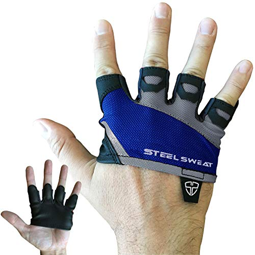 7c09dc396e More Pictures ** Steel Sweat Gym Gloves - Crossfit WOD Workout - Weight Lifting  Gloves to Protect Your Palms