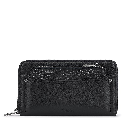 SONORA Zip Around Wallet black Sparkle, One Size