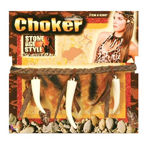 Caveman or Cavewoman Choker Multicolor- Adult Std.
