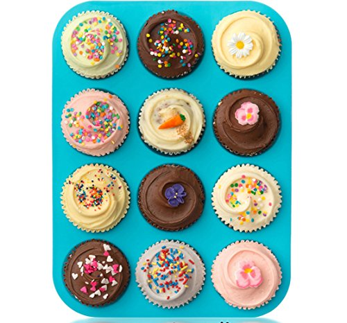 FantasyDay Premium 12-Cavity Silicone Cupcake Baking Molds for Your Biscuit, Donut, Cookie, Soap, Bread, Muffin, Brownie, Cornbread, Cheesecake, Panna Cotta, Pudding, Jello Shot and More #8 ()