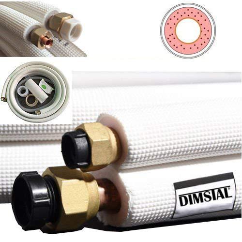 2x 3m Kupferleitung Kältemittelleitung Kupferrohr für Split Klima Klimaanlage Klimagerät Komplett-Set product image