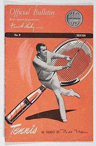 TENNIS, OFFICIAL BULLETIN, KEDS SPORTS DEPARTMENT NO. 9 VINTAGE 1950'S
