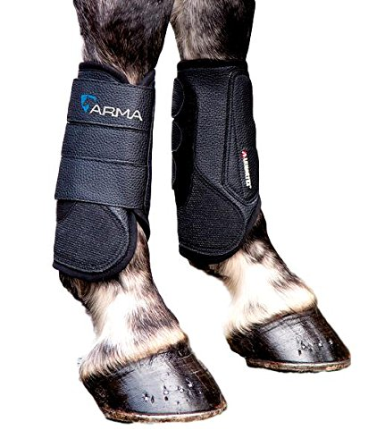 Shires Arma Air Motion XC Front Boots, Cob, Black by Shires