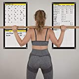 Dry Erase Workout Calendar Poster - Fitness