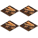 Liili Square Coasters IMAGE ID 10603431 cinnamon and badian against a background from coffee
