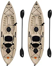 Lifetime 90806 Tamarack Angler 100 Fishing Kayak - 2 Pack (Paddles Included)