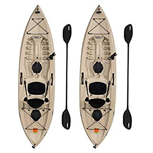 Lifetime 90806 Tamarack Angler 100 Fishing Kayak – 2 Pack (Paddles Included)