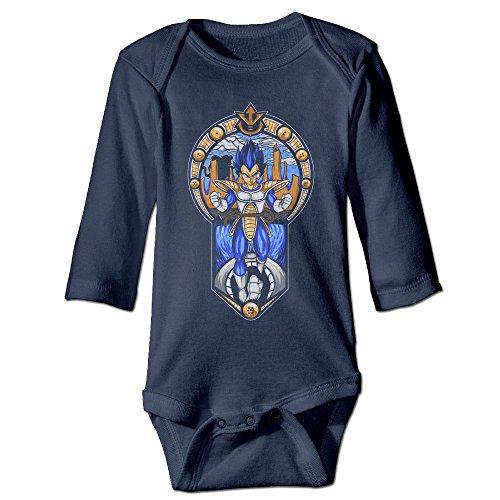 Saiyan Suit Costume (Alexx Prince Of All Saiyans Unisex Baby Jumpsuit Bodysuit Long-sleeve Playsuit Navy 12 Months)