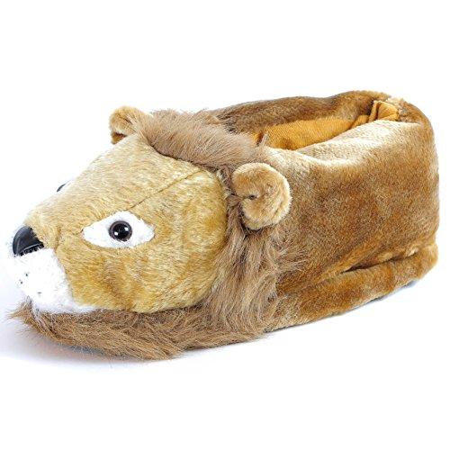 Sleeper'z – Löwe – Lustig Plüsch Tierhausschuhe – Erwachsene und Kinder – Herren und Damen