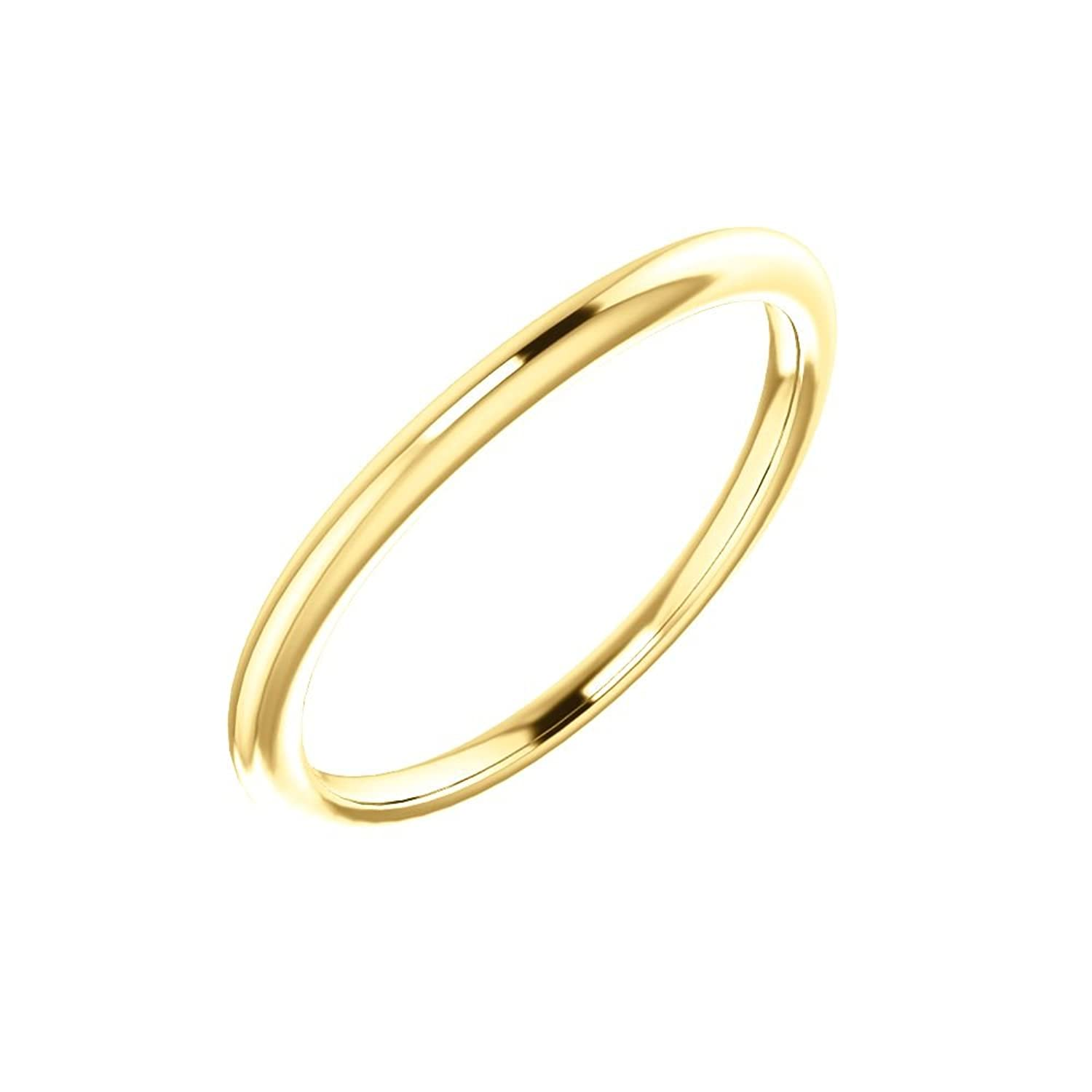 STU001- 18K Yellow Band for 4.5mm Square Ring
