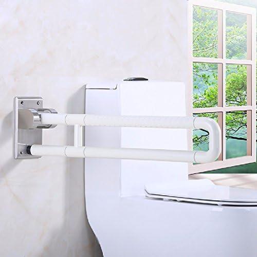 浴室用手すり 障害のない手すりに重厚な障害者の高齢者の手のトイレの便器ナイロンの折り畳み手,白,60 cm