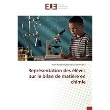 Représentation des élèves sur le bilan de matière en chimie