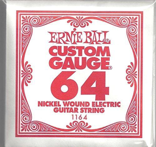 UPC 739340482558, ERNIE BALL THREE PACK OF CUSTOM GAUGE 64 -- 1164 -- (P01164) --.064 NICKEL WOUND ELECTRIC GUITAR STRINGS -- 3 pack of strings