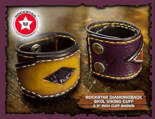 purple-yellow-layered-stitched-rockstar-viking-skol-cuff-wristband-with-purple-inlay-by-rockstar-lea