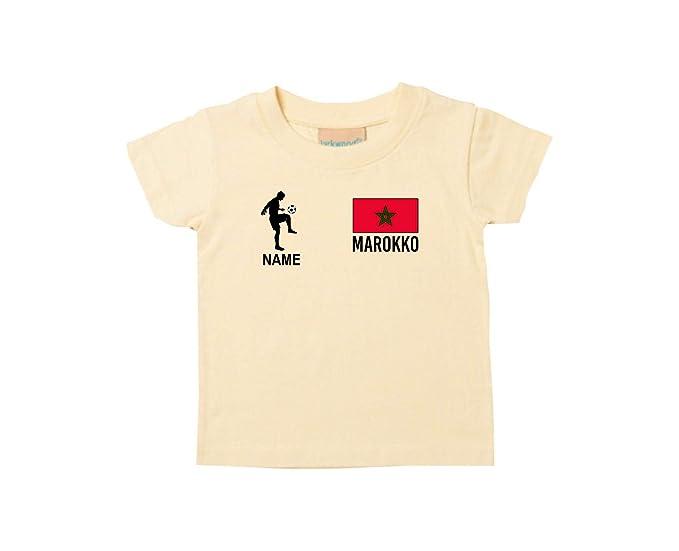 Shirtstown Kids Camiseta Camiseta de Fútbol Marruecos con Su Nombre Deseado Estampado: Amazon.es: Ropa y accesorios