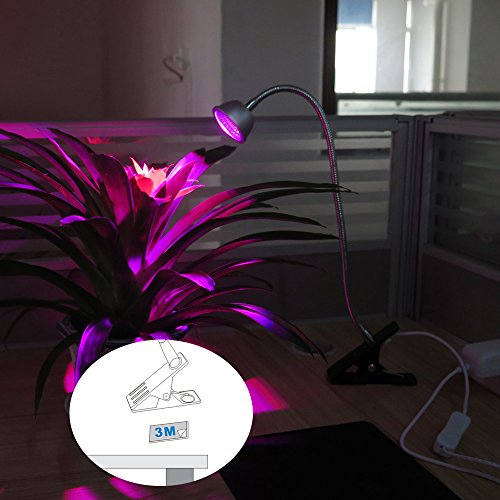 LED Grow Light, Aceple 6W Desk Plant Grow Light with Flexible Gooseneck Arms and Spring Clamp for Hydroponic Indoor Planting, Potted Plants, Garden Greenhouse by Aceple (Image #4)