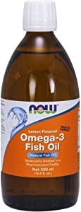NOW Supplements, Omega-3 Fish Oil Liquid, Molecularly Distilled, Lemon Flavored, 16.9-Ounce