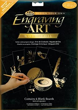 Foil Engraving Art Blank Boards 8x10 6//Pkg-Copper