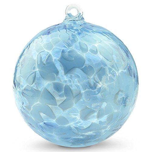 Friendship Ball Aqua Mix 4 Inch Kugel Witch Ball by Iron Art Glass Designs 100% Hand Blown Art