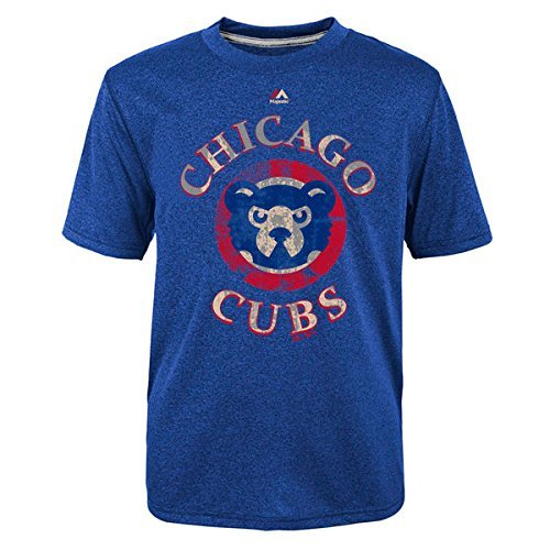 Majestic Chicago Cubs First Among Equals Cooperstown Blue T-Shirt - T-shirt Vintage Cubs