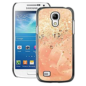 A-type Arte & diseño plástico duro Fundas Cover Cubre Hard Case Cover para Samsung Galaxy S4 Mini i9190 (NOT S4) (Gold Dust Glitter Rose Bling)