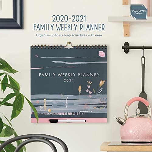 (auf Englisch) Boxclever Press Family Weekly Planner 2021. Wandkalender mit Wochenansicht und 6 Spalten. 16-monatiger Kalender 2020 2021 Familienplaner von August 2020 bis Dezember 2021
