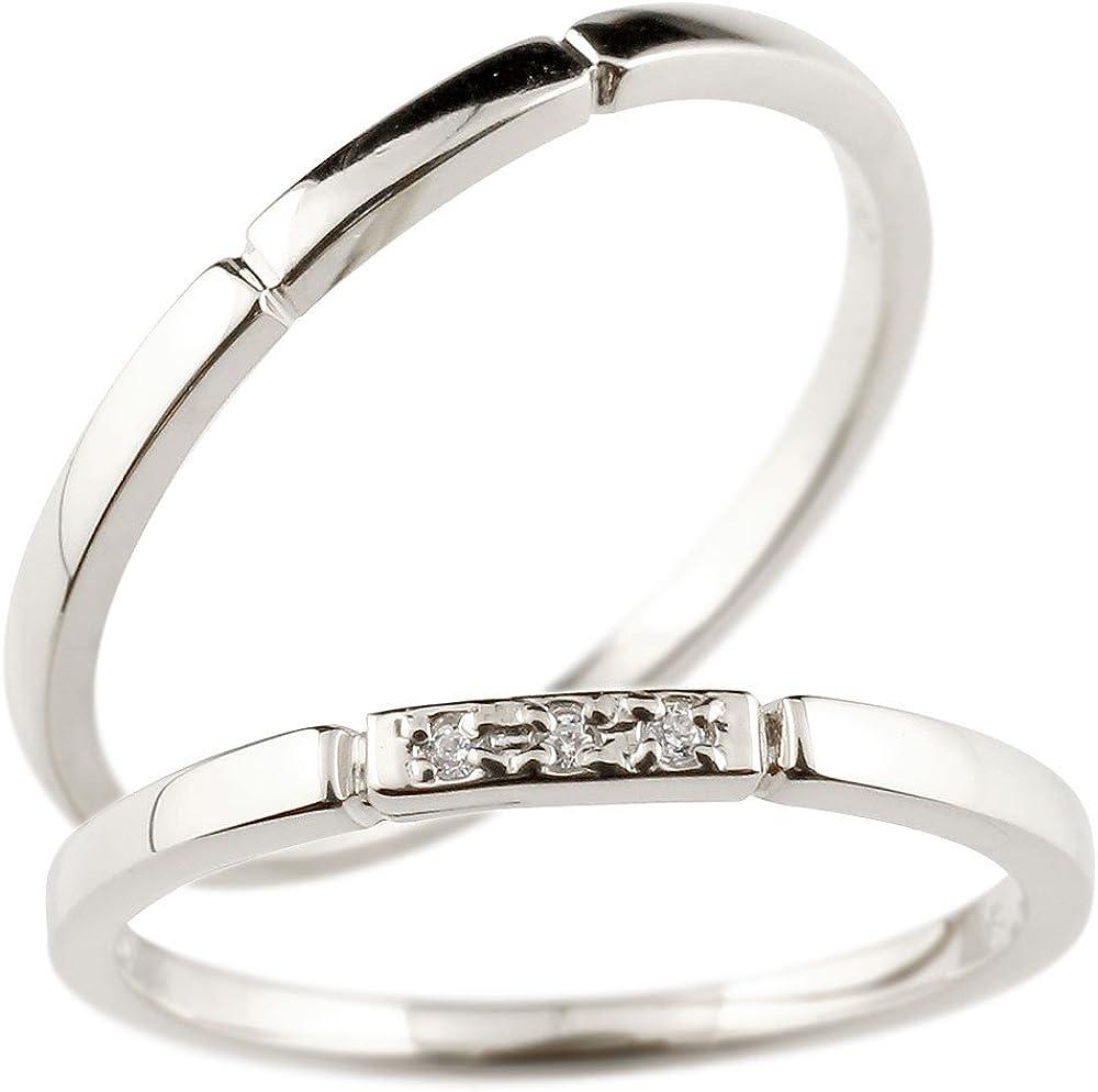 [アトラス] Atrus ペアリング プラチナ ダイヤモンド 結婚指輪 マリッジリング スイートペアリィー 結び 絆 ストレート 刻み