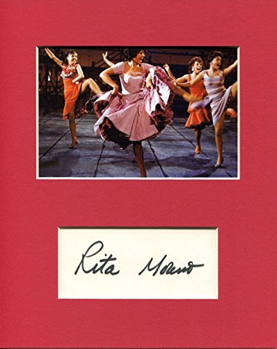 Rita Moreno West Side Story Oscar Winner Signed Autograph Photo Display from HollywoodMemorabilia