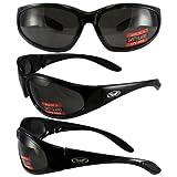 Hercules Advanced System Safety Glasses - Adjustable/Removable Rubber EAR LOCKS - GLOSS Black Frame